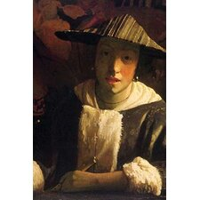 'Girl with a Flute' by Johannes Vermeer Painting Print