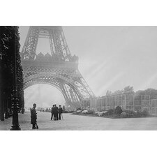 'WWI Guard Stand Watch at The Base of The Eiffel Tower in France' Photographic Print