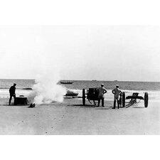 Messenger Line and Cannon Drill, Salisbury, Massachusetts Photographic Print