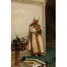 Grand White Eunuch Watching Doves by Jehan Georges Vibert Painting Print