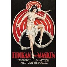 'Movies and Masks Flickan Med Masken' Vintage Advertisement