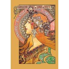 Savonnerie de Bagnolet (Bagnolet Soap) by Alphonse Mucha Vintage Advertisement on Wrapped Canvas