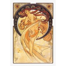 Dance Golden by Mucha Graphic Art on Wrapped Canvas
