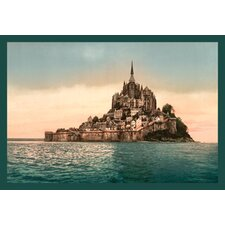 Mont St. Michel at High Tide by Alphonse Mucha Painting Print on Wrapped Canvas