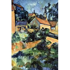 Road Curve in Montgerout by Paul Cezanne Painting Print on Wrapped Canvas