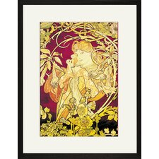 Ivy by Alphonse Mucha Framed Painting Print
