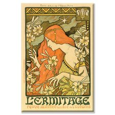Hermitage Review of Illustration, Paris Vintage Advertisement on Wrapped Canvas