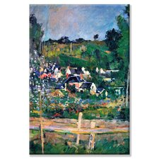 'Village Behind the Fence' by Paul Cezanne Painting Print on Canvas