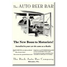The Auto Beer Bar Vintage Advertisement on Wrapped Canvas