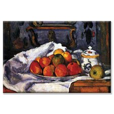 Still Life Bowl of Apples Painting Print on Wrapped Canvas