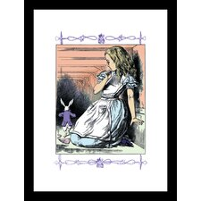 Alice in Wonderland Alice Watches The White Rabbit by John Tenniel Framed Painting Print