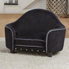 Kimmi Ultra Plush Headboard Dog Sofa with Cushion