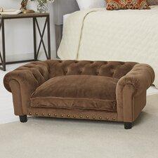 Ultra Plush Melbourne Tufted Dog Sofa with Cushion