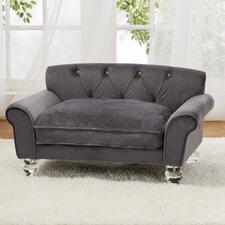 La Joie Velvet Dog Sofa with Cushion
