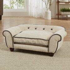 Lily Cleo Velvet Dog Sofa with Cushion