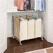 3 Bag Laundry Sorter Cart