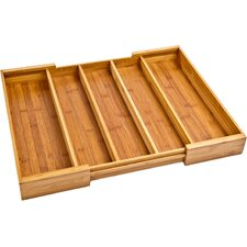 Expandable Bamboo Drawer Organizer Tray