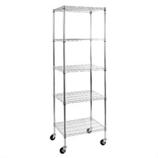 Commercial Wire System Five Shelf Shelving Unit