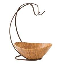 Bamboo Fruit Bowl with Banana Hook