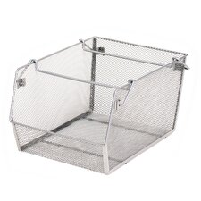 Large Stacking Mesh Storage Bin (Set of 2)