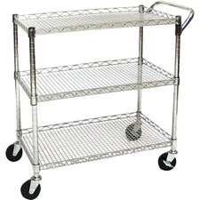 UltraZinc Shelf Commercial Utility Cart