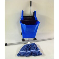 Lady Pick Up and Go System Bucket, Wringer, Mop and 1 Piece Steel Handle