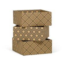 Diamond Print Decorative Storage Boxes (Set of 3)