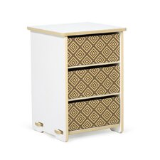 Kids 3 Drawer Nightstand