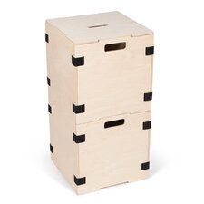Cube Storage Box with Lid (Set of 2)