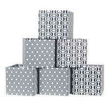 Wave Cardboard Storage Bin (Set of 6)