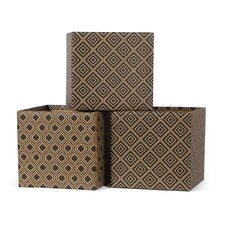 Diamond Pattern Decorative Storage Box (Set of 3)