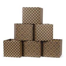 Star Pattern Cardboard Storage Bin (Set of 6)