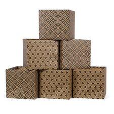 Diamond Pattern Cardboard Storage Bin (Set of 6)