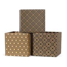 Modern Print Cardboard Storage Bin (Set of 3)