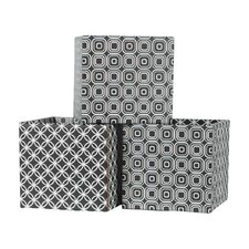 Star Pattern Cardboard Storage Bin (Set of 3)