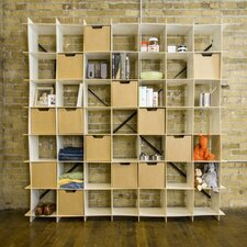 "Large Modern Storage 79.3"" Cube Unit"