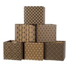 Modern Pattern Cardboard Storage Bin (Set of 6)