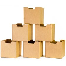 Cardboard Cubby Bin (Set of 6)