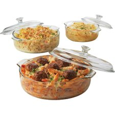 6 Piece Glass Casserole Set