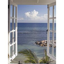 Glasbild Fenster zum Paradies Fotodruck von Katja Sucker