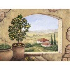 Leinwandbild Fenster in der Toskana von Andres