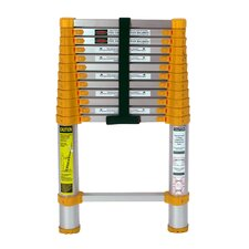 12.5 ft Aluminum Telescoping Extension Ladder with 225 lb. Load Capacity