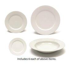 White Basics 24 Piece Dinnerware Set