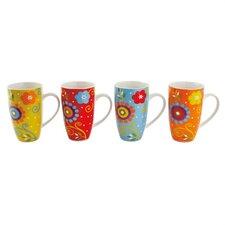 Flower Power 14 oz. Gift Boxed Mug (Set of 4)