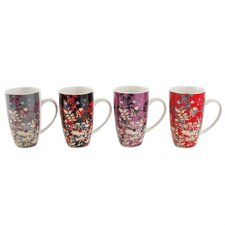 Enchanted Garden 14 Oz. Gift Boxed Mug (Set of 4)