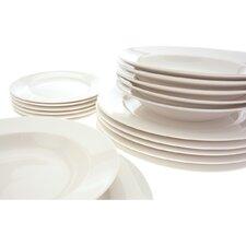 White Basics York 18 Piece Dinnerware Set