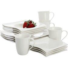 White Basics Motion 16 Piece Dinnerware Set