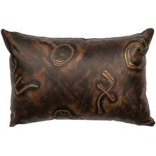 Stampede Leather Lumbar Pillow