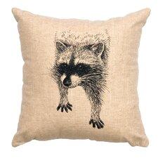 Racoon Throw Pillow