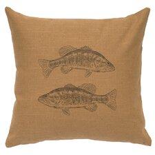2 Bass Throw Pillow